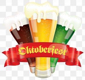 Oktoberfest Decor With Beers Clipart Picture - Beer Glassware Oktoberfest Märzen Clip Art PNG
