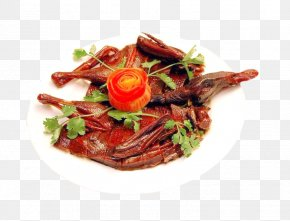 Plate Duck Effect Element - Loudi Red Cooking Hot Pot Red Braised Pork Belly Duck PNG