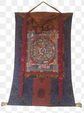 Hand-painted Man Avatar - Thangka Tibetan Buddhism Prayer Flag Bhavacakra PNG