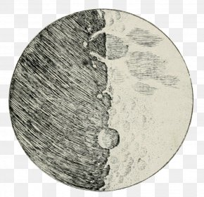 Fig - Sidereus Nuncius Drawing Moon Impact Crater Telescope PNG