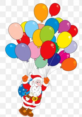 Santa Claus And Balloons - Santa Claus Balloon Stock Photography Clip Art PNG