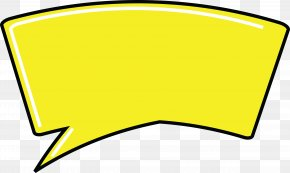 Dialog Box - Yellow Speech Balloon Clip Art PNG