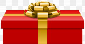 Red Gift Clip Art Image - Christmas Gift Box Illustration PNG