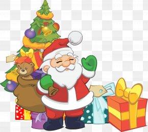 Santa Claus - Scrooge Santa Claus Christmas Decoration Gift PNG