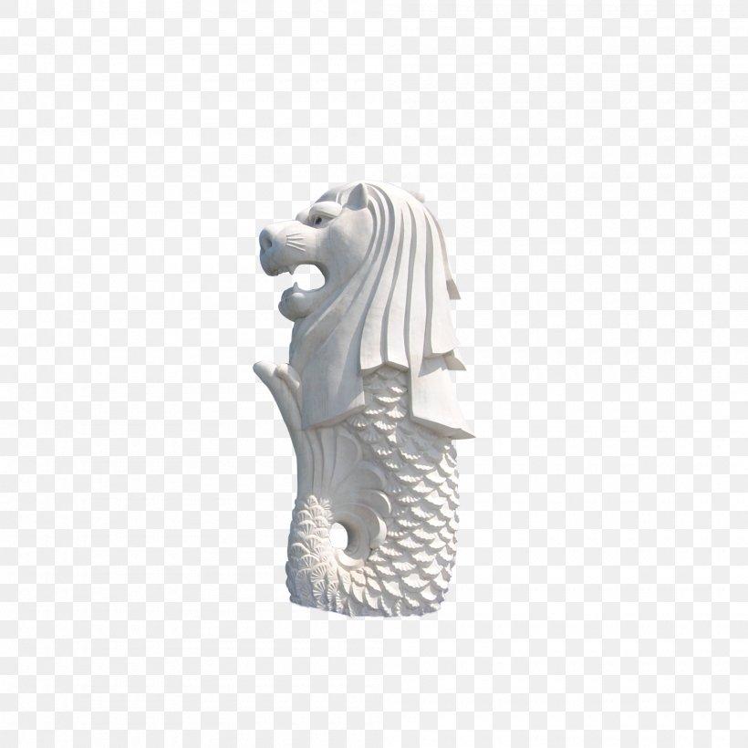 Merlion Statue Sculpture Work Of Art, PNG, 2000x2000px, Statue, Art, Black And White, Creative Work, Designer Download Free
