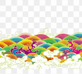 Dragon Boat Festival,wave - Wind Wave Animation Cartoon PNG