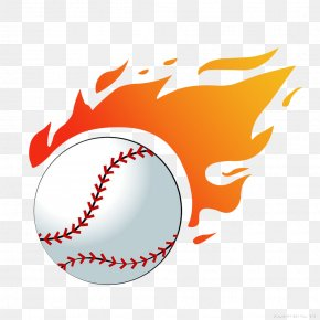 Volleyball Flames Sports Equipment - Baseball Flame Softball Clip Art PNG