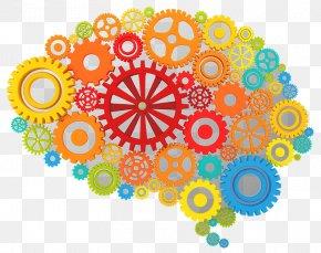 Imaginative Brain Cliparts - Brain Gear Human Head Clip Art PNG