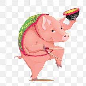 Pig - Domestic Pig Illustration PNG