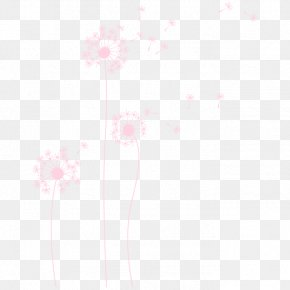 Diente - Common Dandelion Color Pink Drawing Wall PNG