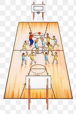 Basketball Game - Basketball Court Sport Illustration PNG
