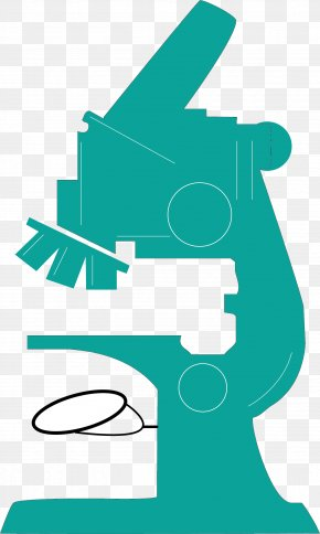 Green Microscope - Microscope Drawing Clip Art PNG