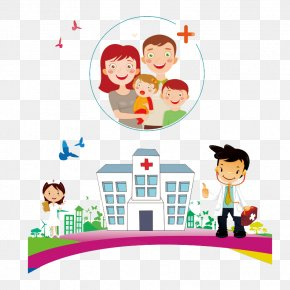 Cartoon Maternal And Child Health Care Hospital - Health Care Maternal Health Hospital Child PNG