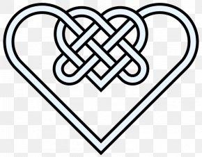 Double Hearts Pictures - Celtic Knot Heart Celtic Art Clip Art PNG