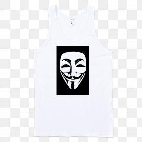 T-shirt - T-shirt Guy Fawkes Sleeveless Shirt Gilets PNG