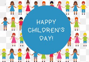 A Group Of Children Holding Hands - Child Euclidean Vector PNG
