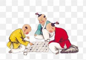 Kids Playing Chess - Xiangqi Go Reversi Chess U68cbu7c7b PNG