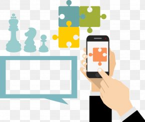 Vector Mobile Phone Puzzle - Mobile Phone Icon PNG
