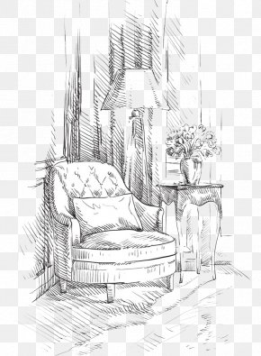 Interior Design Hand-painted Background - Chair Interior Design Services Interieur PNG