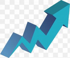 Blue Curve Up Arrow - Arrow Euclidean Vector Curve Icon PNG