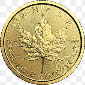 Gold Leaf - Gold Coin Canadian Gold Maple Leaf Bullion PNG
