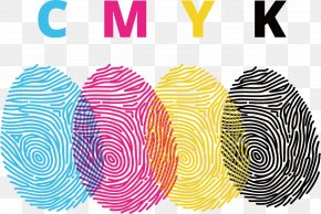 CMYK Finger Print Design - CMYK Color Model Fingerprint Euclidean Vector PNG
