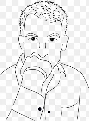 Drawing For Thinking Person - Thought Drawing Person Clip Art PNG