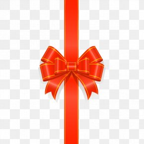 Red Bow Ribbon - Window Gift Wrapping Discounts And Allowances Ribbon PNG