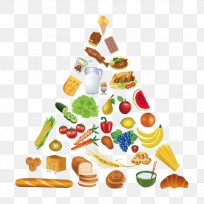 Vegetables And Bread - Food Pyramid Healthy Eating Pyramid Clip Art PNG