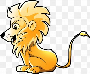 Lion - Lion Tiger Leopard Child Drawing PNG
