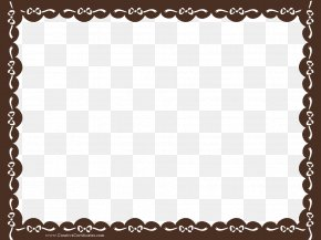Brown Border Frame Transparent Background - Academic Certificate Template Clip Art PNG