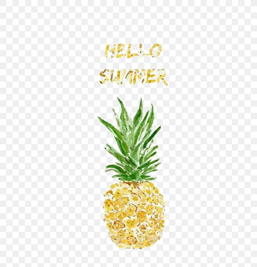 Pineapple Watercolor Painting Printmaking Illustration, PNG, 479x852px, Juice, Ananas, Art, Bromeliaceae, Canvas Print Download Free