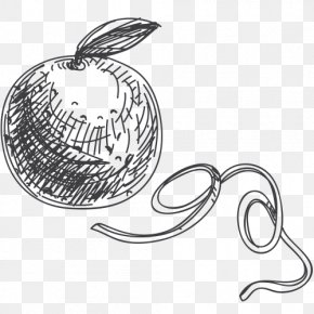 Apple's Black And White Sketch Stick Figure - Black And White Line Art Drawing PNG