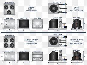 Chiller Condenser Air-cooled Engine Condensation Heat PNG