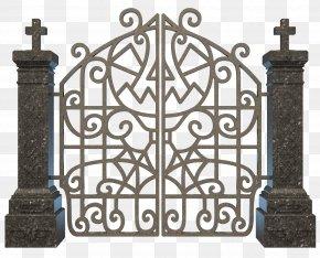 Halloween Graveyard Gate Clipart Image - Cemetery Clip Art PNG