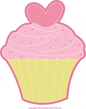 Cute Cupcakes Cliparts - Cupcake Valentines Day Muffin Icing Clip Art PNG