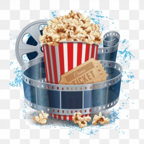 Popcorn And Film - Film Cinema Illustration PNG