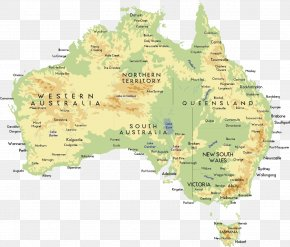Australia Area - Australia Map Icon PNG