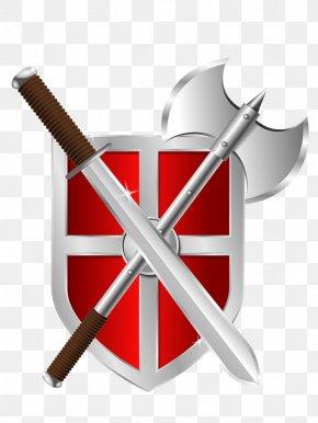 Weapon - Weapon Shield Battle Axe Sword Clip Art PNG