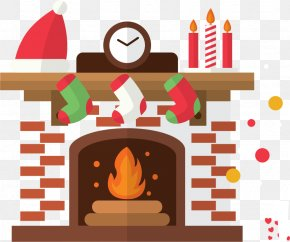 Christmas Stove Vector Material - Hearth Clip Art PNG