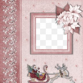 Christmas Pink Frame Pictures - Christmas Picture Frame Scrapbooking PNG