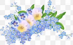 Spring Flowers Decoration Transparent Clip Art Image - Flower Clip Art PNG