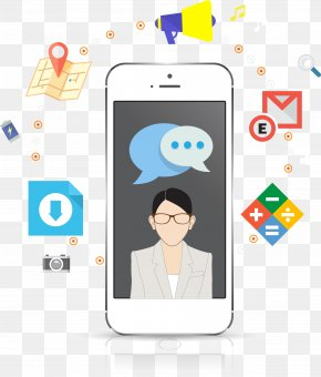 Mobile Phone Business - Digital Marketing Internet Mobile Phone Icon PNG