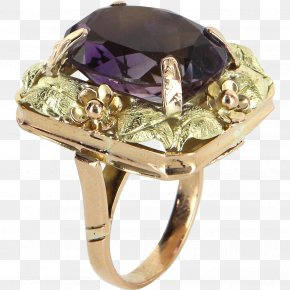 Ring - Ring Jewellery Gemstone Amethyst Gold PNG