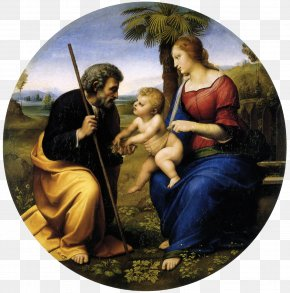 Mary - Scottish National Gallery Madonna With Beardless St. Joseph Canigiani Holy Family The Holy Family Of Francis I Alba Madonna PNG
