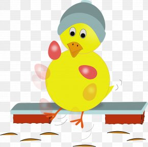 Yellow Chick - Fried Egg Chicken Easter Cake Clip Art PNG