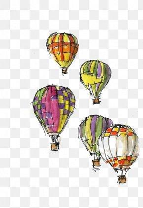 Cartoon Hot Air Balloon - Hot Air Balloon Festival Greeting Card Sketch PNG