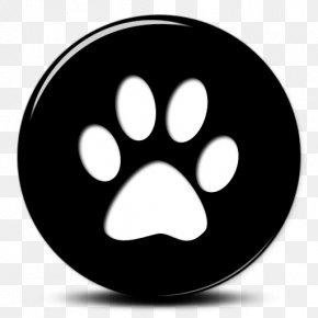 Simple Black Cat - Dog Paw Footprint PNG