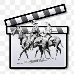 Western - Silent Film Clapperboard Cinema Film Director PNG