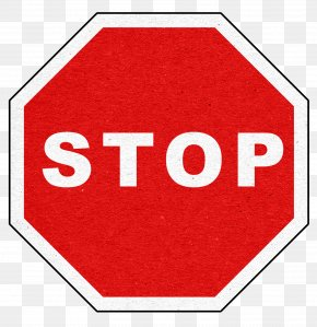 Red Stop Sign - Canada Stop Sign Information PNG